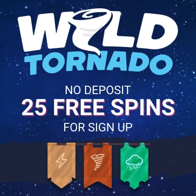 Wild Tornado Casino banner Where Can You Find Cashable No Deposit Bonuses?