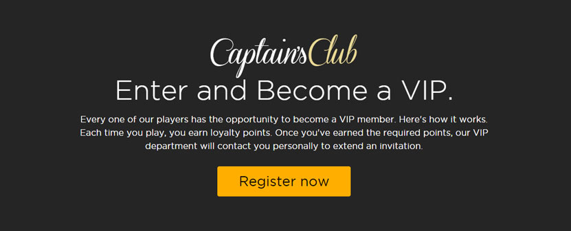 Captains Club - Become a VIP at CasinoCruise!