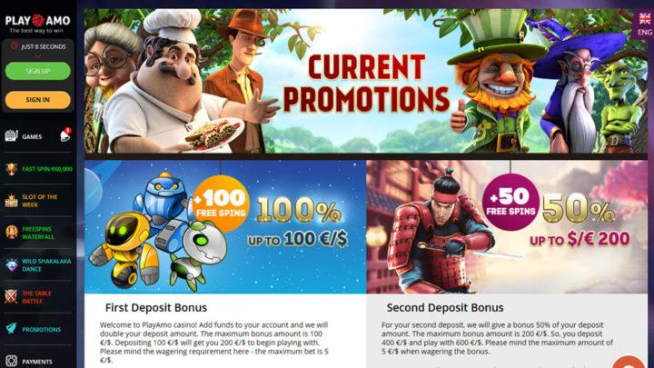 Playamo Casino Bonus & Free Spins