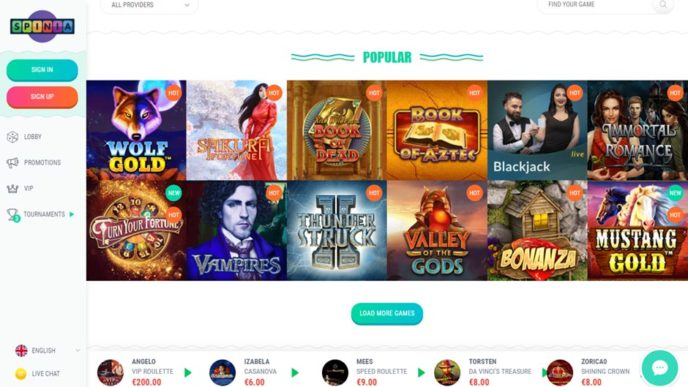 Spinia Casino Games & Software