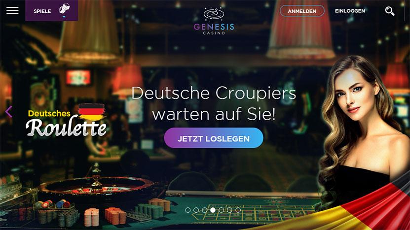Genesis Casino > 1.000 Euro Bonus + 300 Freispiele