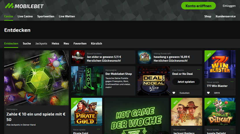 mobilebet-casino Zahle 10 Euro ein, spiele mit 50€
