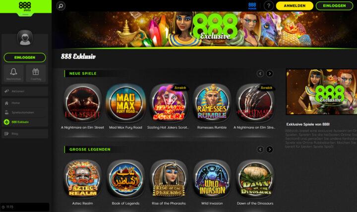 888 Spins - 100% Echtgeld Bonus für Automatenspiele