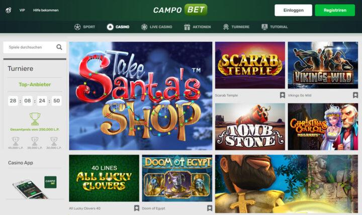 Campobet: Bonus von 120% bis zu 500 EUR & 200 Freispiele