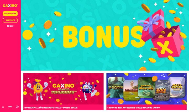 Caxino > 100 Freispiele plus 100% Willkommensbonus bis €200