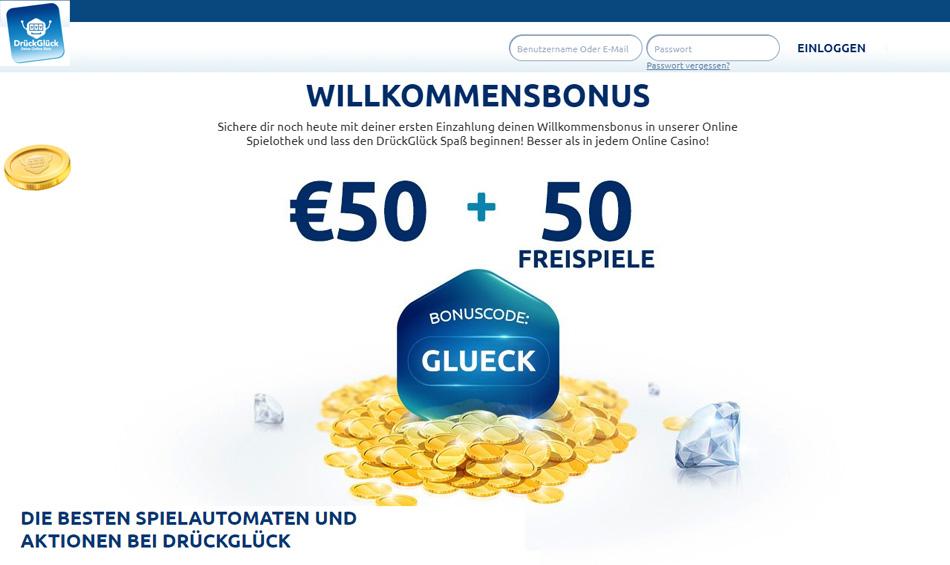 Drück-Glück-online-Bonus