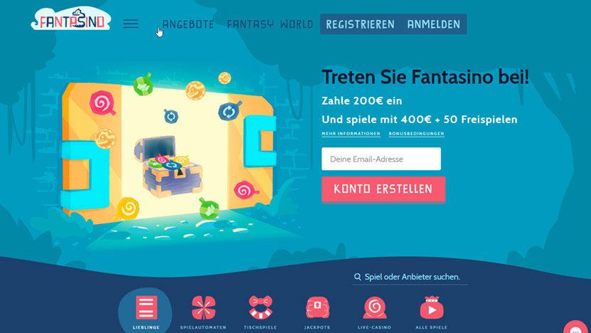 Fantasino Casino - 700 Euro plus 140 Freispiele