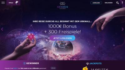 genesis-casino-freispiele 10 € einzahlen 150 Freispiele bekommen