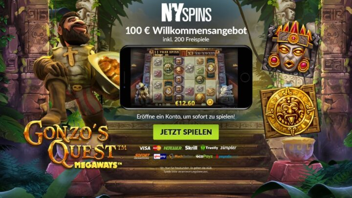 NY-Spins - 100 Euro Willkommensbonus plus 200 Freispiele