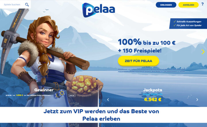 Pelaa - jetzt 100% Bonus & 150 Freispiele
