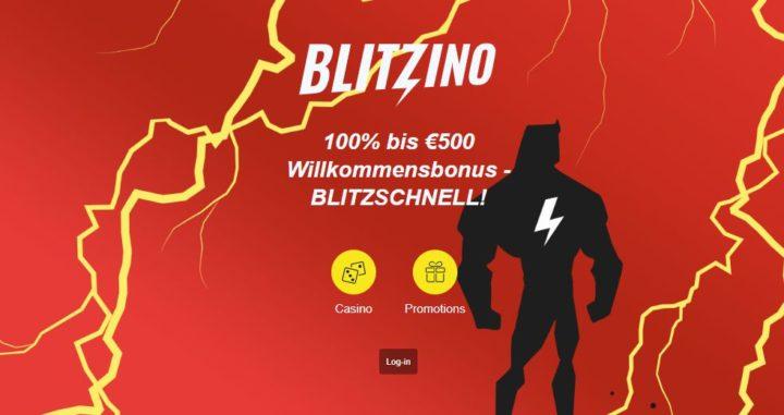 Blitzino Casino - 100% Bonus bis 500 Euro