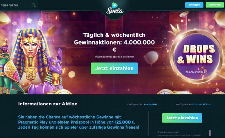 Spela - 1000 Euro im Bonuspaket
