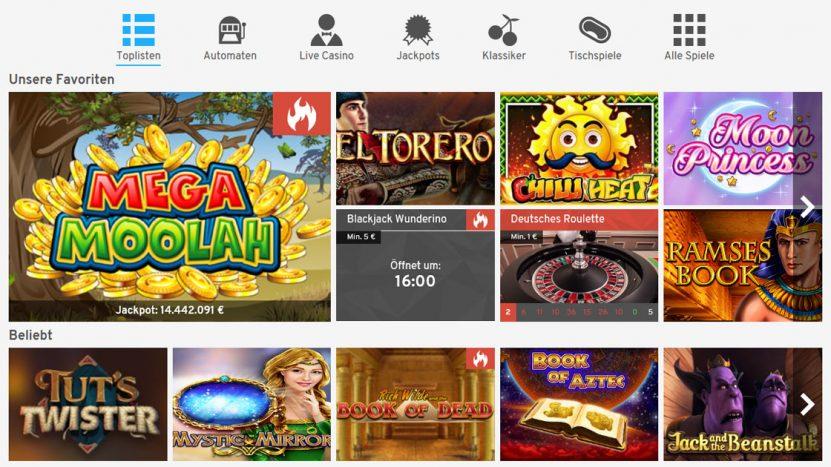 wunderino-casino-spiele